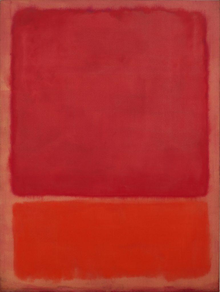 Sans titre (Rouge, Orange), Huile sur toile, 1968, Mark Rothko