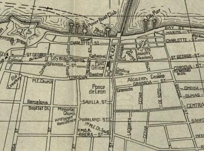St. Augustine 1914 Map