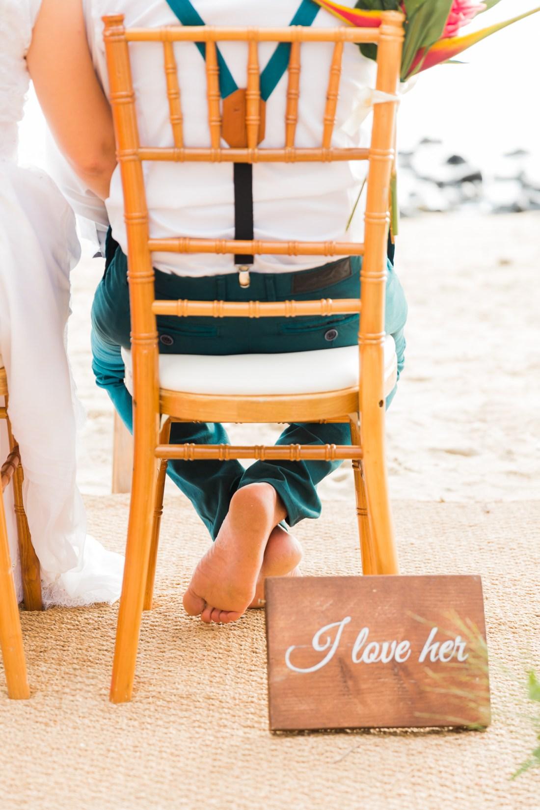Un mariage sur la plage à la Réunion