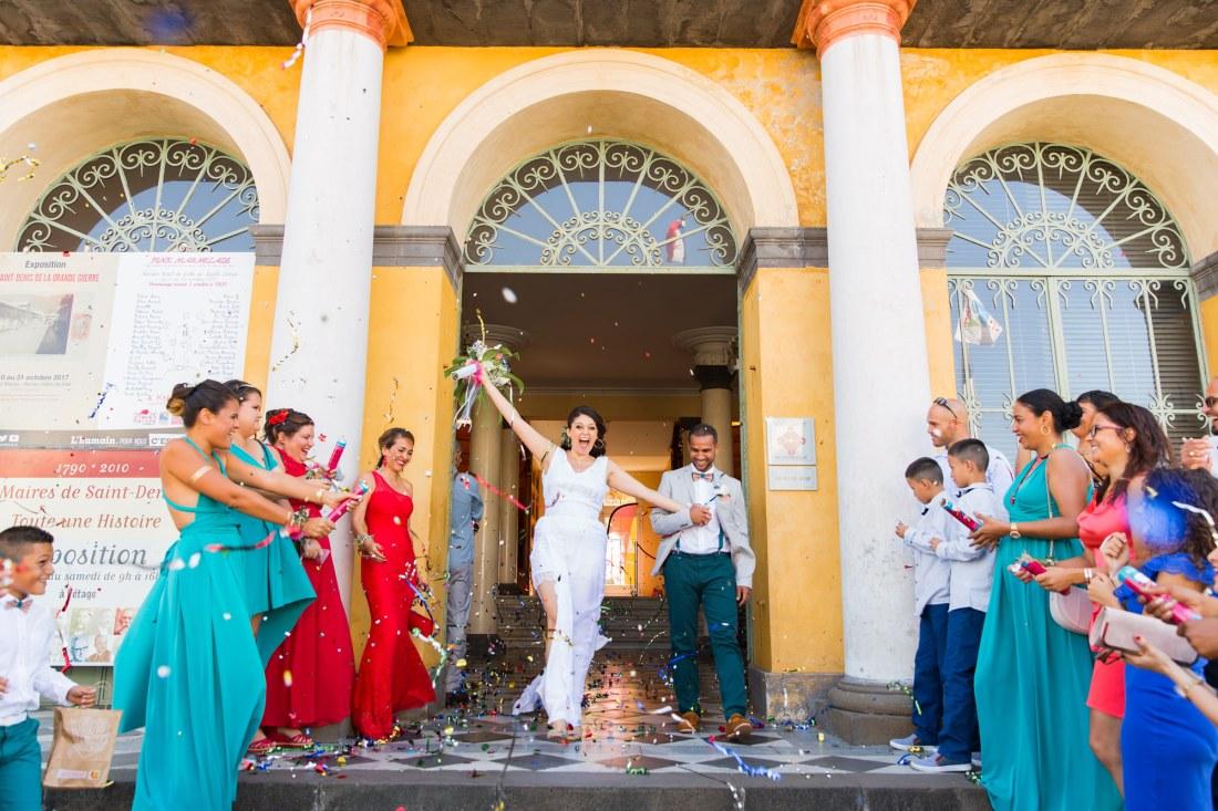 Mariage à la mairie de Saint Denis de la Réunion