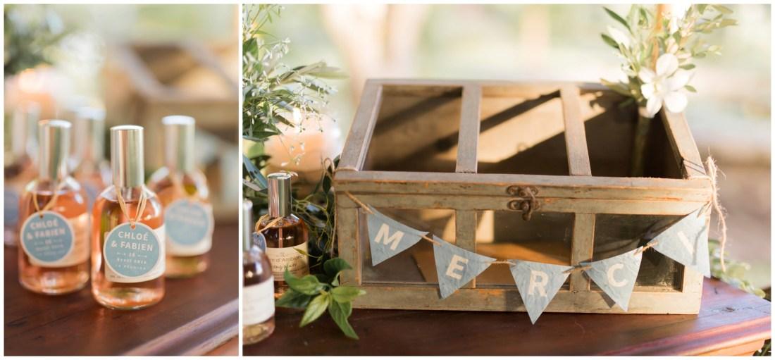 Idée cadeaux d'invités pour une mariage à la Réunion au jardin d'Ama