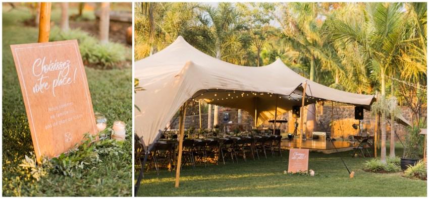 décoration de mariage par de chouettes mots aux jardins d'ama