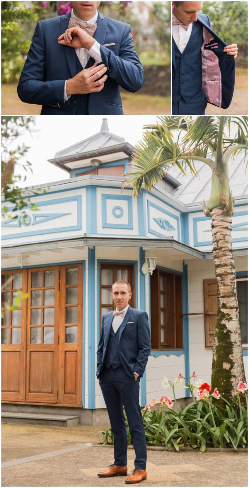 Mariage devant une case créole dans l'Est de la Réunion
