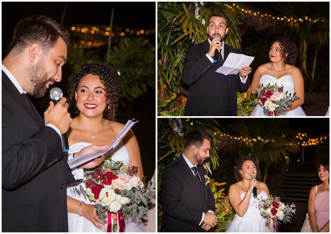 Discours des mariés au domaine des mille cocos