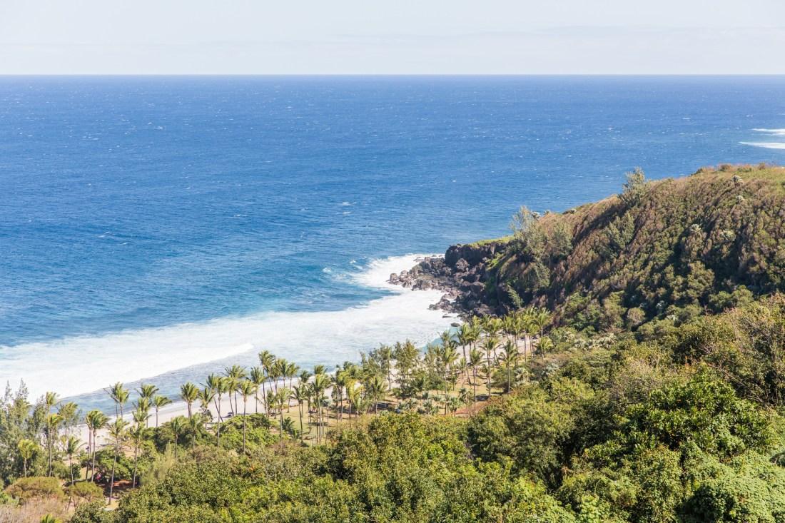 vue de la plage de grande anse au Palm Hôtel