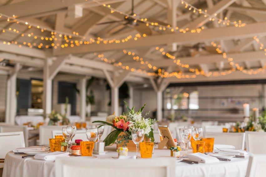 Décoration de mariage sur le thème tropical et japon au Lux de Saint-Gilles de la Réunion