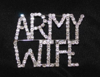 Army Wife sash pin