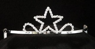 star tiara with side combs