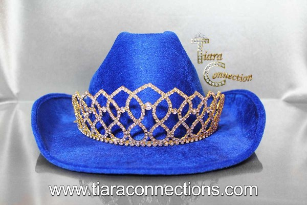 gold rodeo hat crown