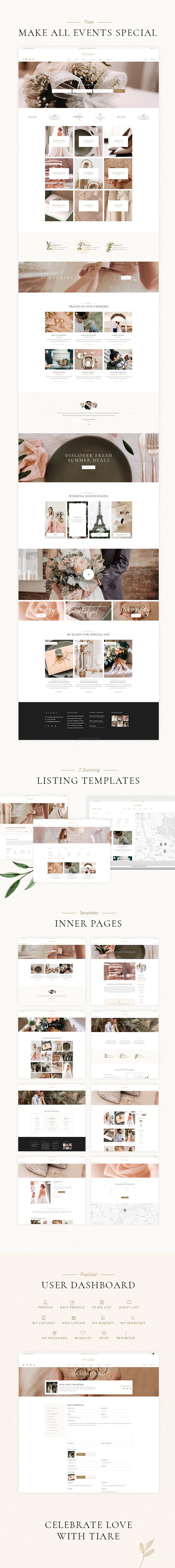 Tiare - Wedding Vendor Directory Theme - 1
