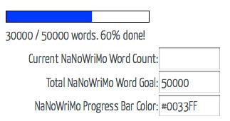Nanowrimo Word Meter
