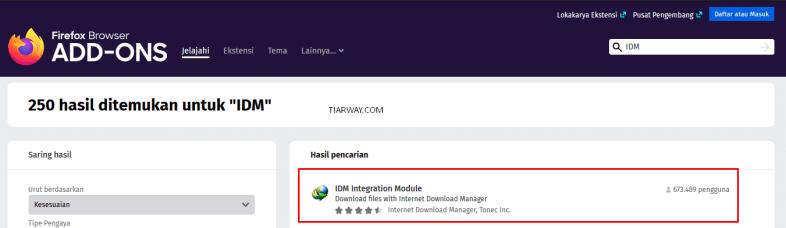 Install ADD-ONS IDM Pada Mozila