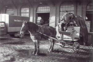 Boschpoort Goederenstation 1957 paard en wagen