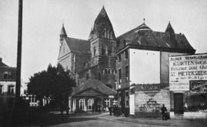 Graanmarkt 1909 met O.L.Vrouwekerk