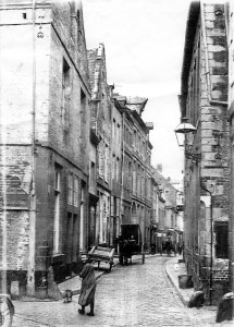 Grote Stokstraat 1930 - kruising Plankstraat