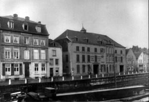 Hasseltkade 1930 Panden 32-35 gesloopt bouw Wilh.brug