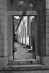 Grote Looierstraat ingang binnenhof 1987