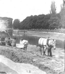 Zwanenvijver werkzaamheden ±1910