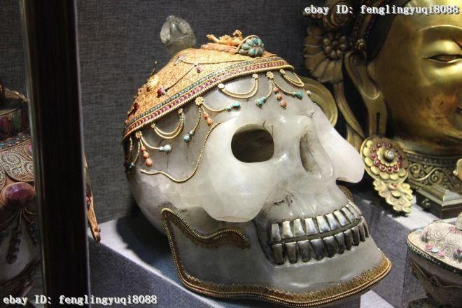 Tibetan Quartz Crystal Skull