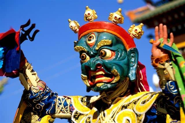 Aba monk mask dance