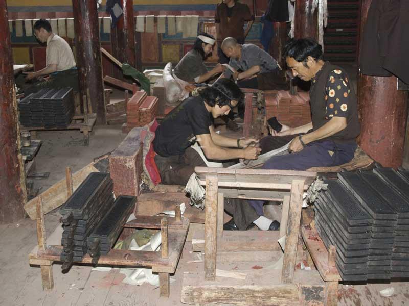 Tibetan traditional printing