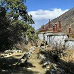 Reting monastery chortens