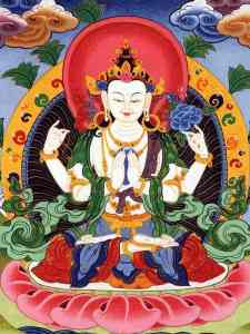 Tibetan Buddhism Iconographic four-Armed-AVALOKITESHVARA