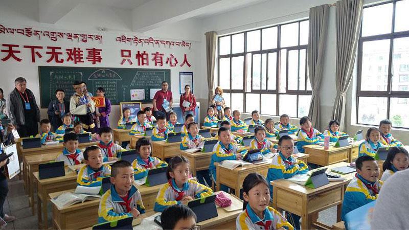 Classe dans une école primaire de Nyinchi, RAT (photo : Elena Ettinger, juin 2019)