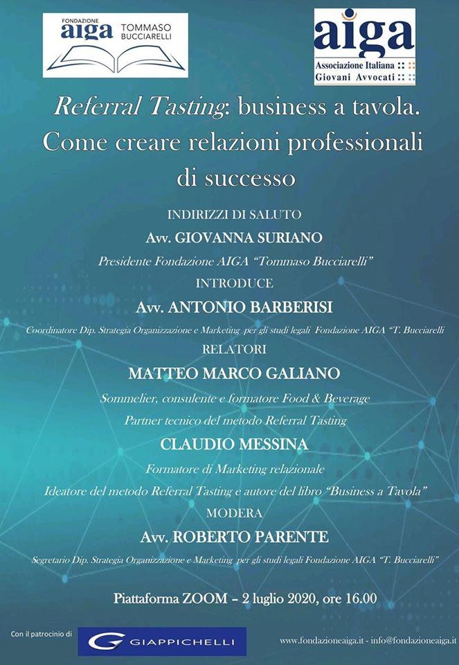 Locandina Presentazione Business a Tavola