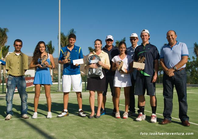 Lara Afonso y David Vega se impusieron en el Master de Tenis 'Copa Cabildo de Fuerteventura 2011 – Open Playitas Resort'