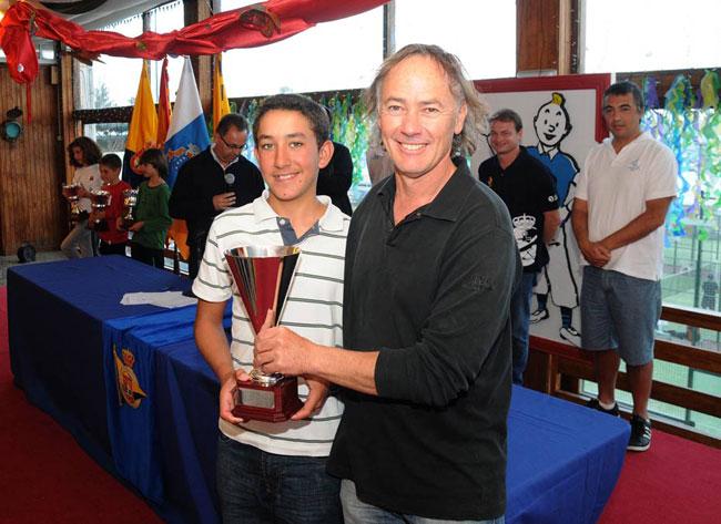 El majorero Javier Reyes quinto en la Copa de Canarias de Optimist.