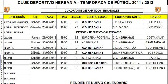 Club Deportivo Herbania-temporada de fútbol 2011-12