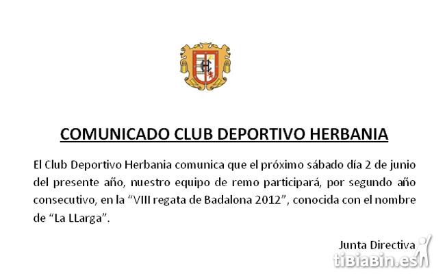 Comunicado C.D. Herbania