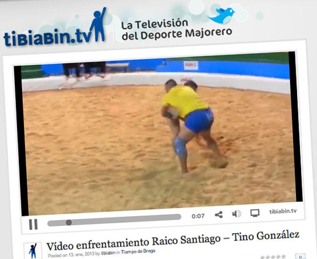 Vídeo enfrentamiento Raico Santiago – Tino González