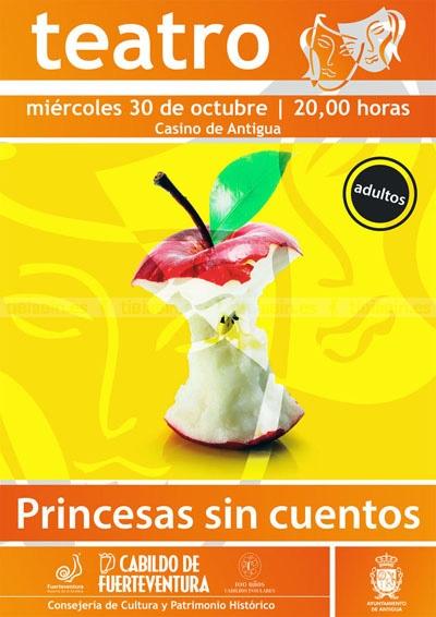 """El Casino de Antigua acoge este miércoles la obra teatral """"Princesas sin cuentos"""""""