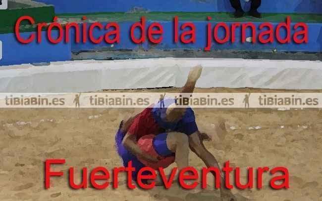 Crónica de la 10ª jornada de lucha canaria en Fuerteventura
