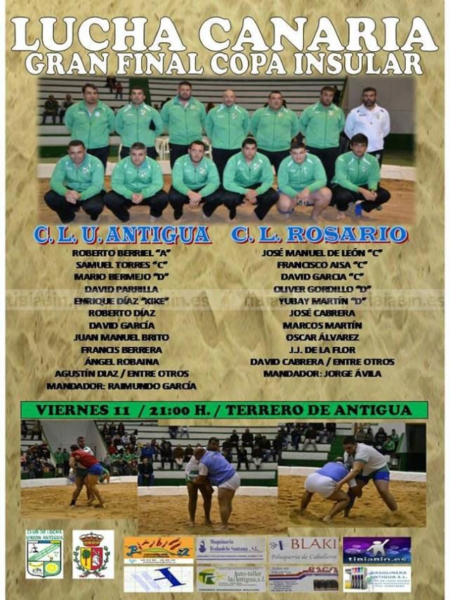 Final Copa Insular C.LU. Antigua-Rosario C.L. próximo viernes 21.00 horas en Antigua
