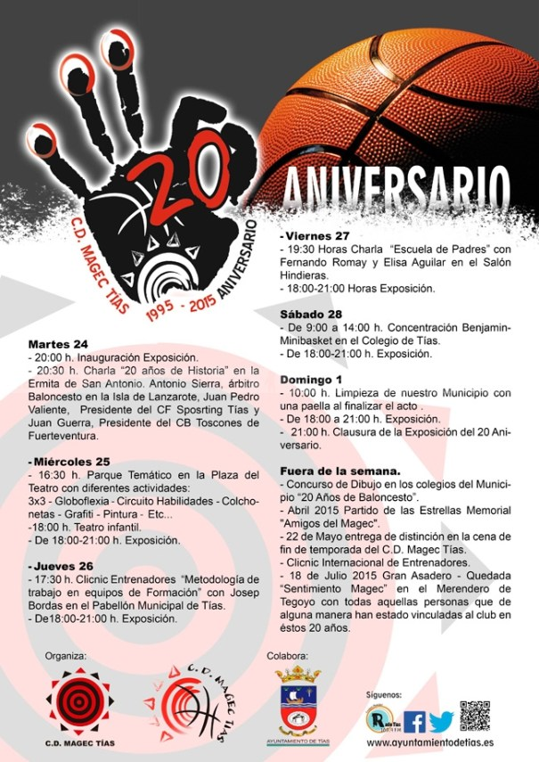 Actos 20 Aniversario CD Magec Tías