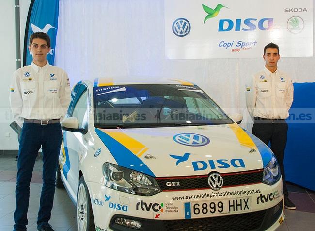 Marcos y Edu González, Junior Team Disa-Copi Sport en el Santa Brígida.
