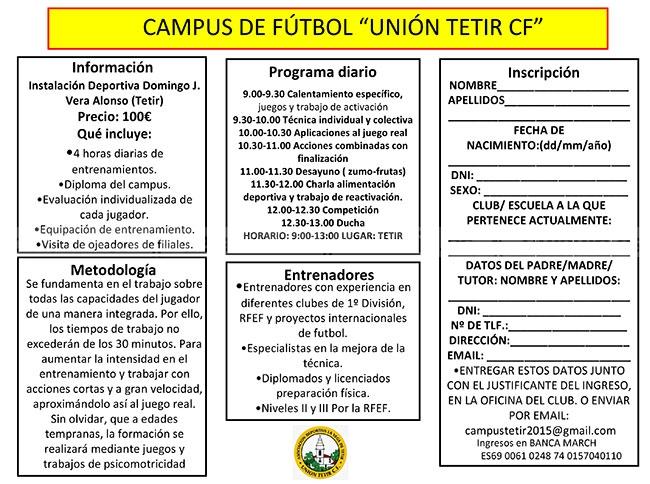 I Campus Unión Tetir CF