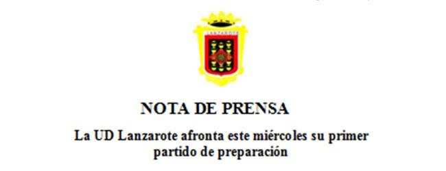 La U.D. Lanzarote afronta este miércoles su primer partido de preparación