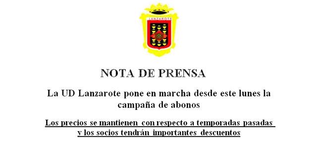 Campaña de abonados U.D. Lanzarote