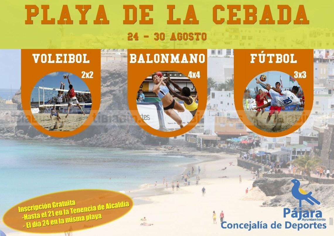 Torneos de Balonmano Playa, Voley Playa y Fútbol Playa en Playa de la Cebada