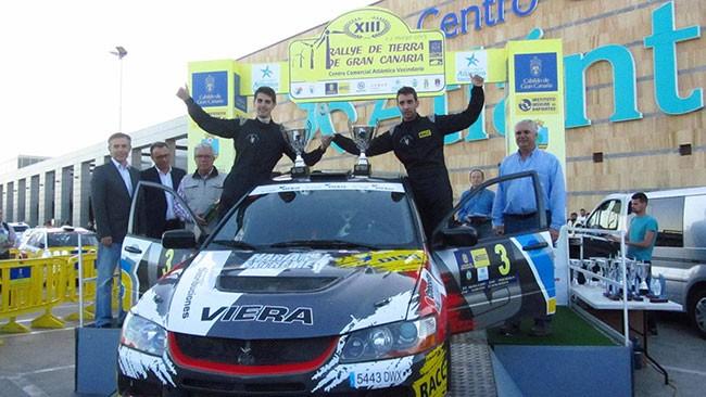 Marcos y Eduardo González, campeones tras el segundo puesto en el Rallye de La Oliva