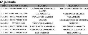 Clasificaciones Liga Veteranos Fuerteventura y próxima jornada