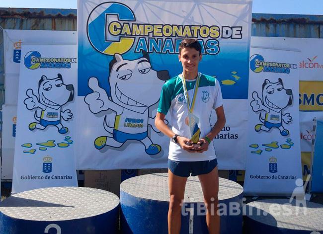 El joven majorero Aridane Jesús Hernández se proclama Campeón Juvenil de Canarias de Campo a Través