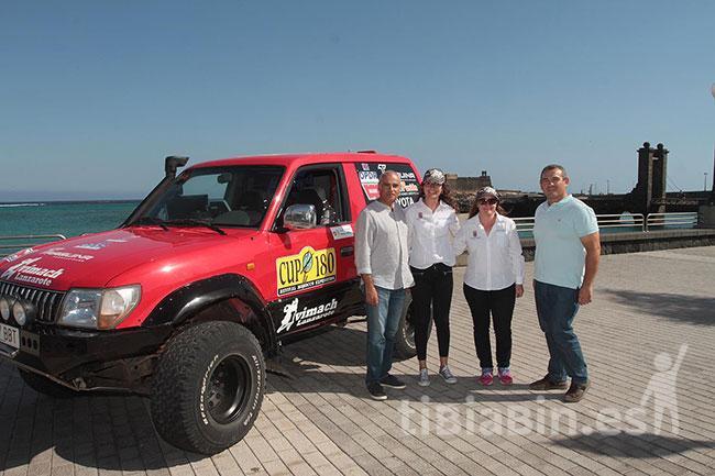 Arrecife recibió a las integrantes del equipo Ivimach Woman tras acabar la CUP 180