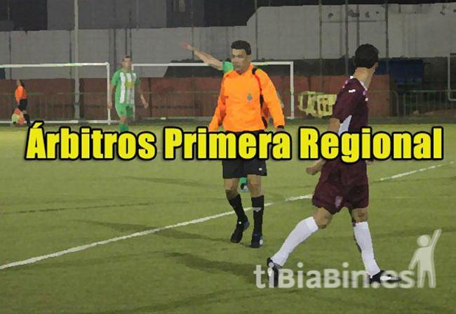 Árbitros 1ª Jornada Liga 1ª Regional