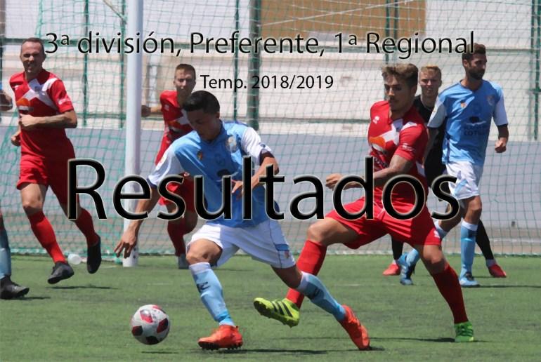 Resultados 3ª División, Regional Preferente y 1ª Regional (Temporada 2018-2019)