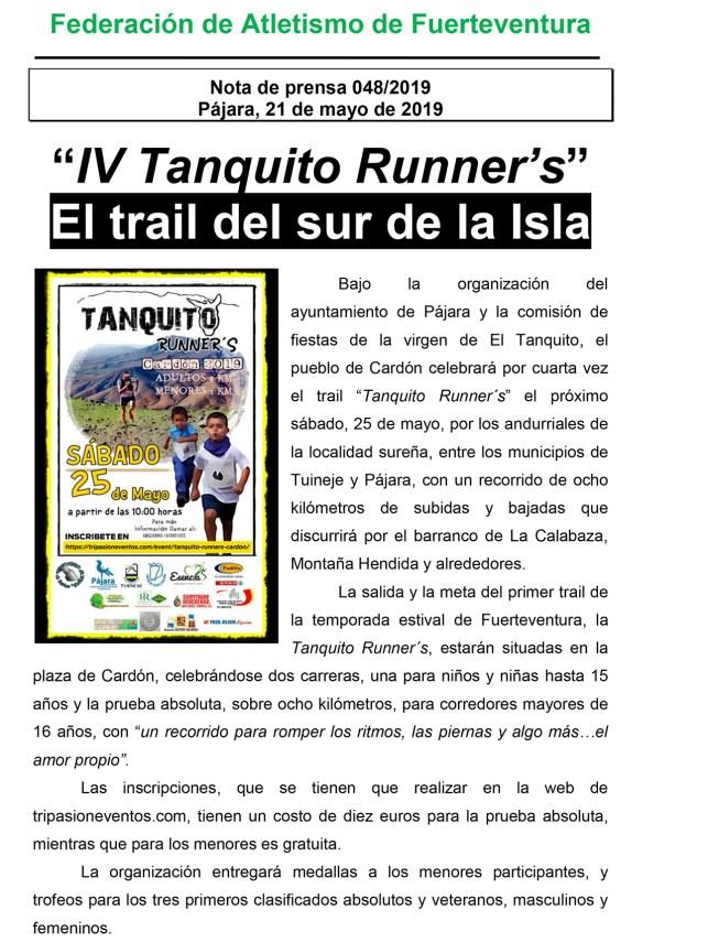 IV Tanquito Runner´s